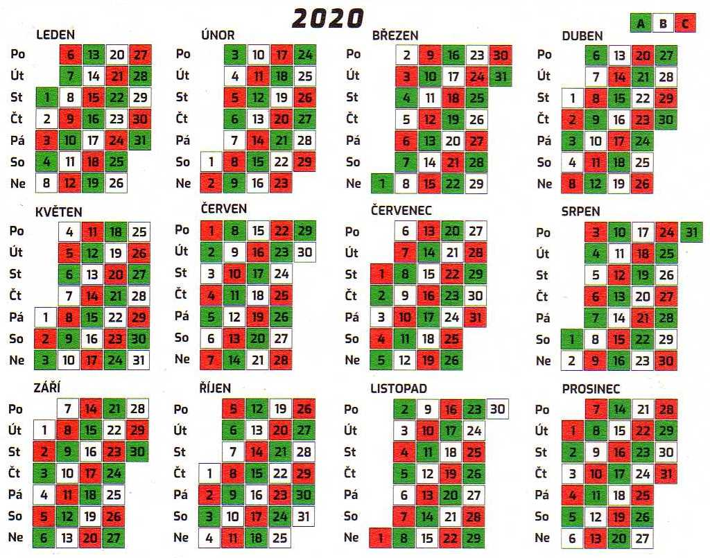 smenovy kalendar 2014 SDH Libuš smenovy kalendar 2014